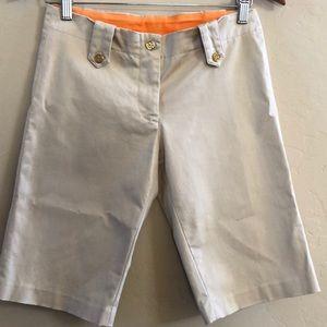 Tory Burch khaki Bermuda shorts size 2 Nwot